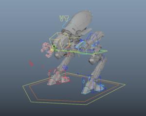 RIG-IT.net rig with controls in Maya.